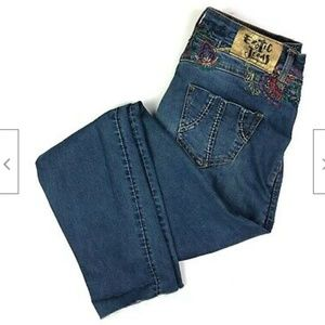 Desigual Exotic Embroidered Skinny Jeans